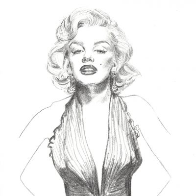 Marilyn Monroe Gold Dress (A4)