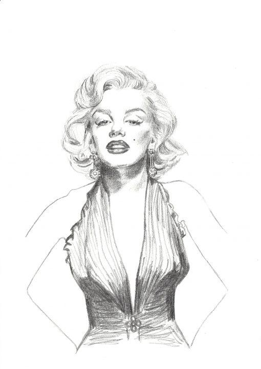 Marilyn Monroe Gold Dress (A4)