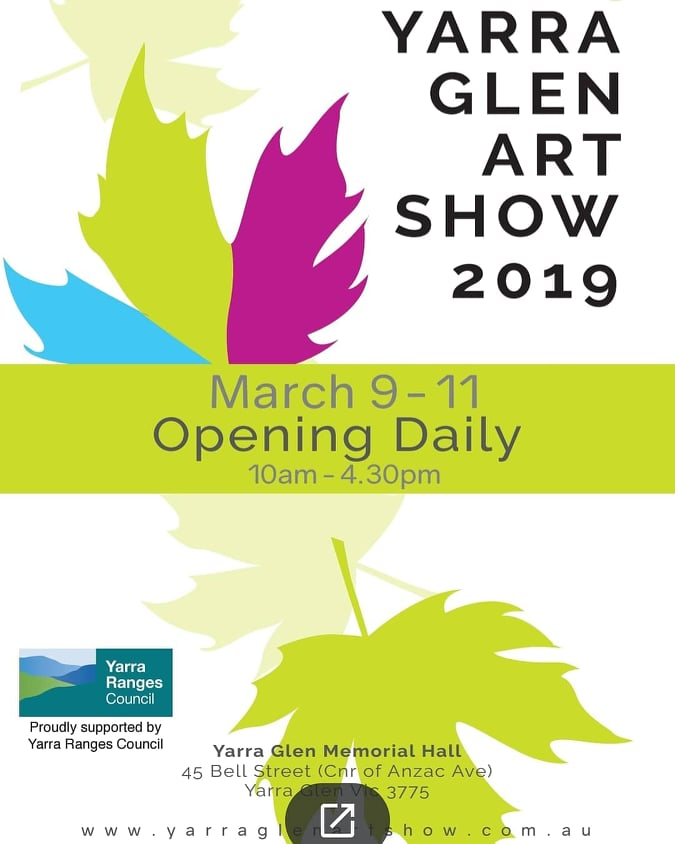 Yarra Glen Art Show 9-11 March 2019 @ Yarra Glen Memorial Hall